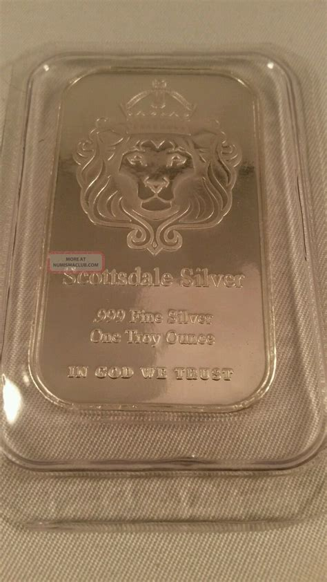 1 Troy Ounce Silver Bar - 1 troy ounce silver bar scottsdale 1 oz 999 silver