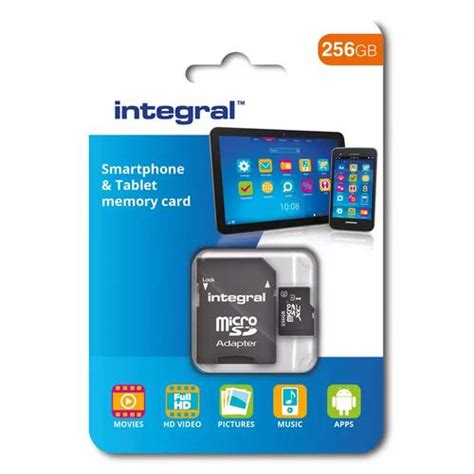 Micro Sd Card 256gb integral 256gb micro sd card sdxc uhs i u1 adapter 90mb s 163 84 99 free delivery mymemory