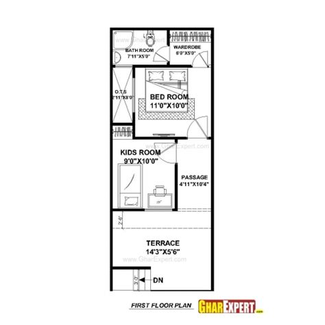 home design for 20x50 plot size amazing house plan for 15 feet 50 feet plot plot size 83