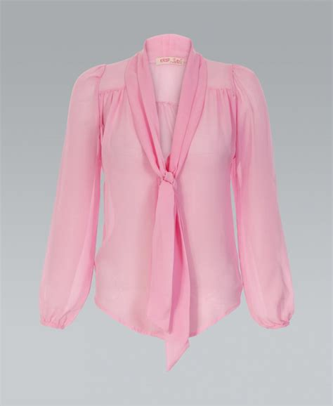 krisp basics bow chiffon pink blouse krisp basics from krisp clothing uk