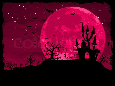 pink zombie wallpaper halloween poster with zombie background eps 8 stock
