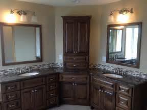 Home remodeling corner cabinet bathroom remodeling