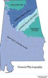 5 regions of map alabama geography from netstate