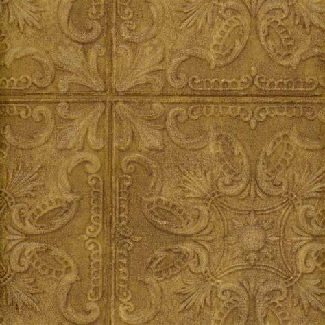 tile look wallpaper wallpaper fashion classic tin ceiling tile look faux copper 10 quot squares ebay