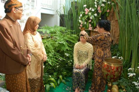 pancawarna kembang setaman upacara adat siraman calon pengantin jawa