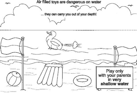thames police water safety colouring book page