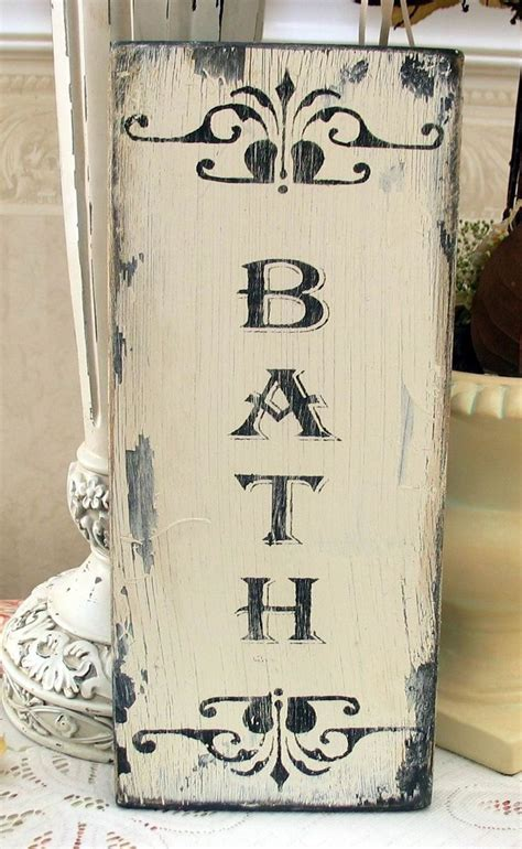 shabby chic bathroom home pinterest