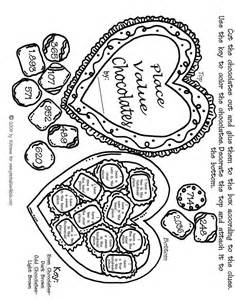 valentine math place values activity sheet printables