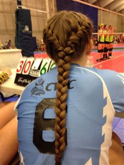 hairstyles for volleyball games ponytail french braid hair styles pinterest