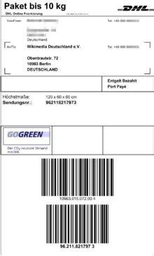 Adressaufkleber Paket International by Online Frankierung Dhl Wikipedia