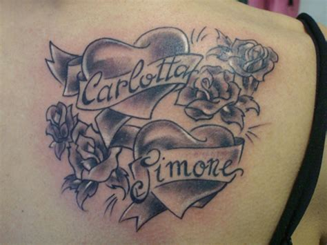 tatuaggi lettere con cuore cuori by alle