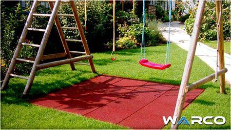 backyard play area ideas flooring   rubber swing