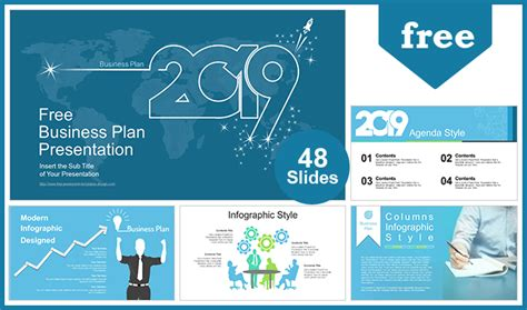 2019 Business Plan Powerpoint Templates For Free Blueprint Powerpoint Template
