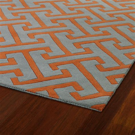 Revolution Maze Rug In Grey And Orange Rosenberryrooms Com Orange Rugs