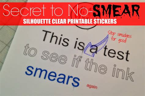 printable sticker paper clear secret to preventing smeared ink on silhouette printable