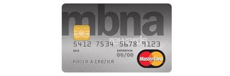 Mba Credit Card Login by New Mbna Rewards Mastercard Credit Card Moneywise