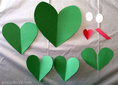 Paper Craft Hearts - paper frog craft for crafty morning