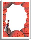 printable basketball stationary basketball stationery