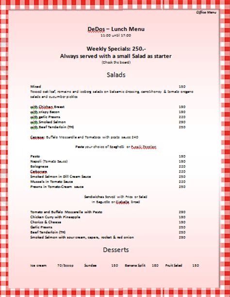 menu templates for microsoft word microsoft word template menus