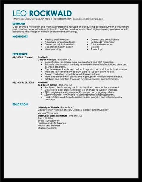 exle of a good resume resume template cover letter