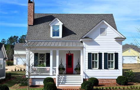 flint cottage southern living house plans u shaped house plans southern living house plans