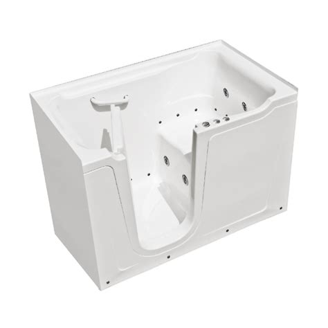 walk in bathtubs lowes shop endurance 60 in l x 36 in w x 38 in h white gelcoat