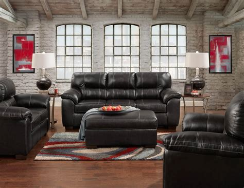 black leather living room furniture sets austin black sofa and loveseat leather living room sets