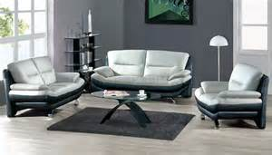 black livingroom furniture two toned grey amp black leather 7068 contemporary living room