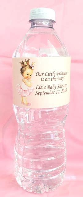 Vintage Little Princess Personalized Water Bottle Labels