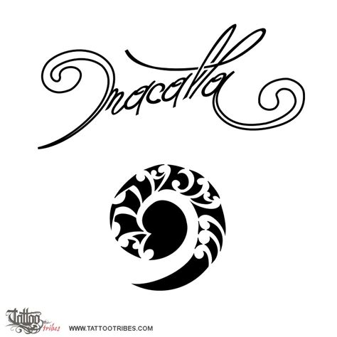 koru tattoo of macalla past and future custom