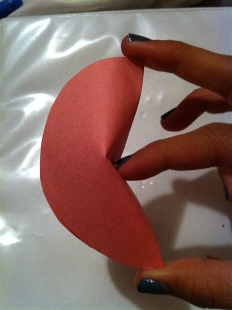 How To Fold A Fortune Cookie Out Of Paper - paper fortune cookies valentines 183 how to fold an