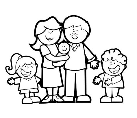 imagenes de la familia para colorear e imprimir dibujos dia de la familia para colorear colorear dibujos