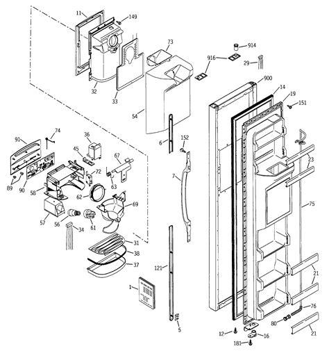ge refrigerator diagram freezer door diagram parts list for model gss25jfmbcc ge