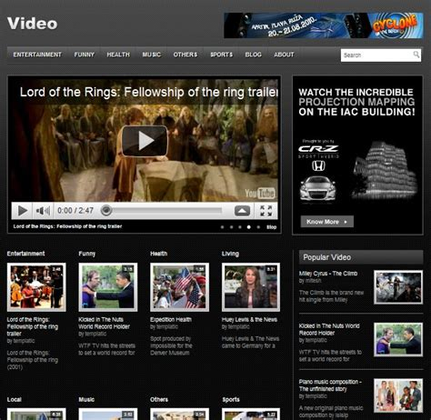 themes wordpress movie free video wordpress themes archives dobeweb