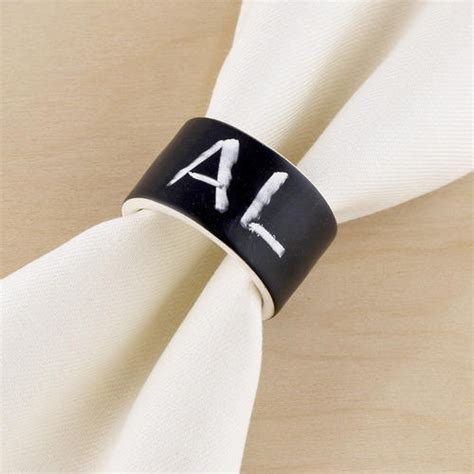 Chalkboard Napkin Ring It Or It by Chalk Talk Napkin Rings Set Of 4 These They