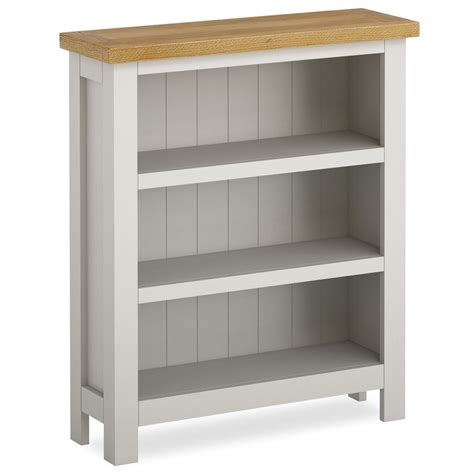 farrow painted small bookcase narrow grey painted