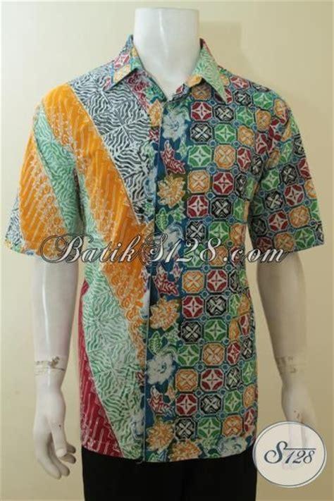 Kemeja Batik Clasic pakaian batik modis kombinasi dua motif baju batik modern