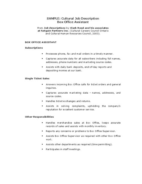 Office Production Assistant Sle Resume by Office Assistant Description Resume 2016 Slebusinessresume Slebusinessresume