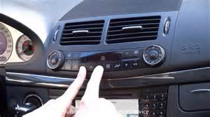 Mercedes Air Mercedes W211 How To Use Air Condition Ac Menu