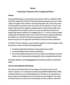Sle Business Plan Research Paper by 10 Concept Exles Sles
