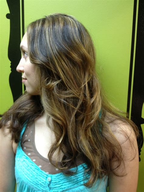brown hair with highlights by becky voth salon brands