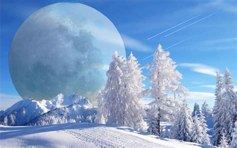 wallpaper 3d winter winter fantasy winter background hd wallpaper