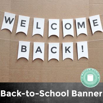 printable welcome banner for classroom free printable welcome back banner backtoschool