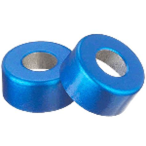 seal blue color 13mm open top crimp seal color blue cleaned sterilized