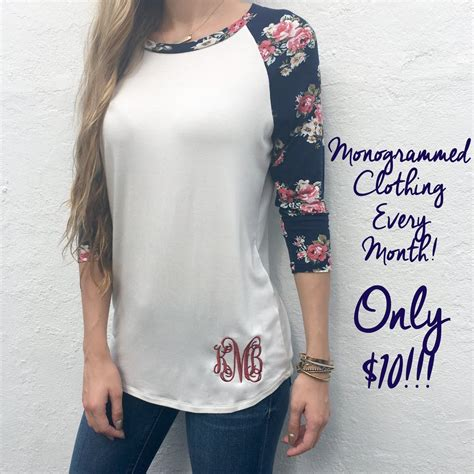 monogram swag bag monthly tee subscription  love jewelry