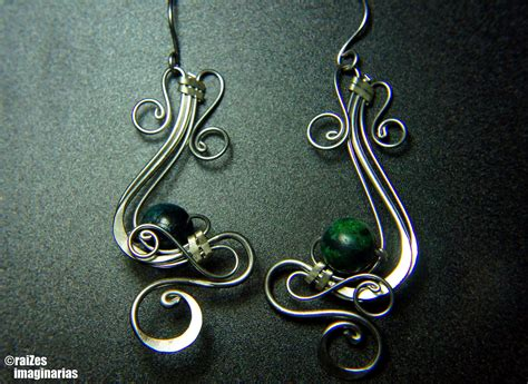 earrings with wire stainless steel wire wrapped earrings agathe by