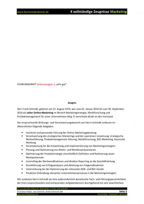 4 x Arbeitszeugnis: Leiter Online Marketing (m/w