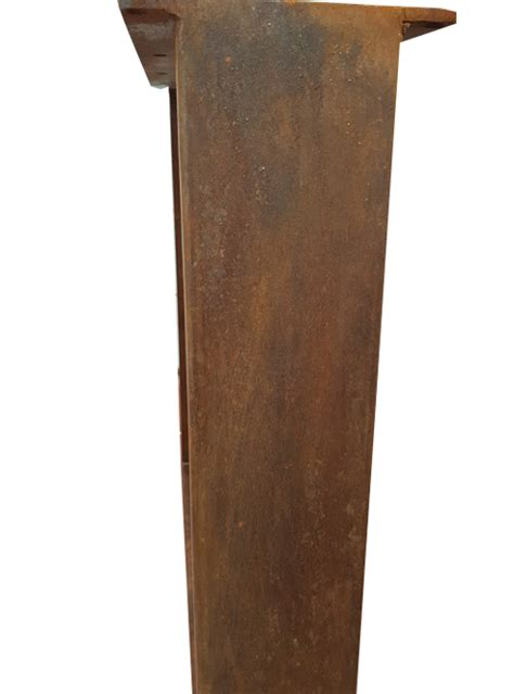 gambe tavoli coppia di gambe in ferro ruggine per tavolo da pranzo