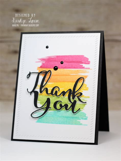 Easy Handmade Thank You Cards - 9 ideas for easy thank you cards