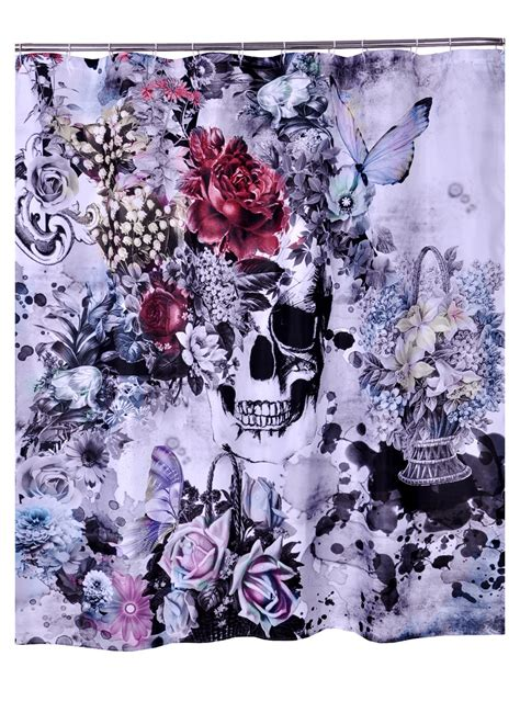 skull shower curtain aliexpress com buy bathroom products polyester fabric